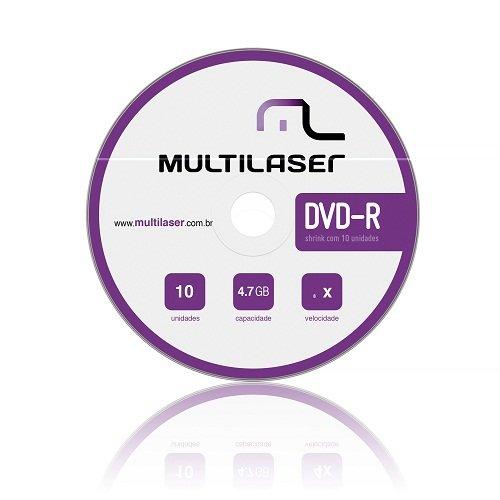 DVD-R 4,7GB c/ 10 Unidades DV038 Multilaser