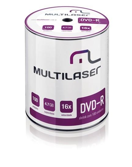 DVD-R 4,7GB DV037 Multilaser Únitario