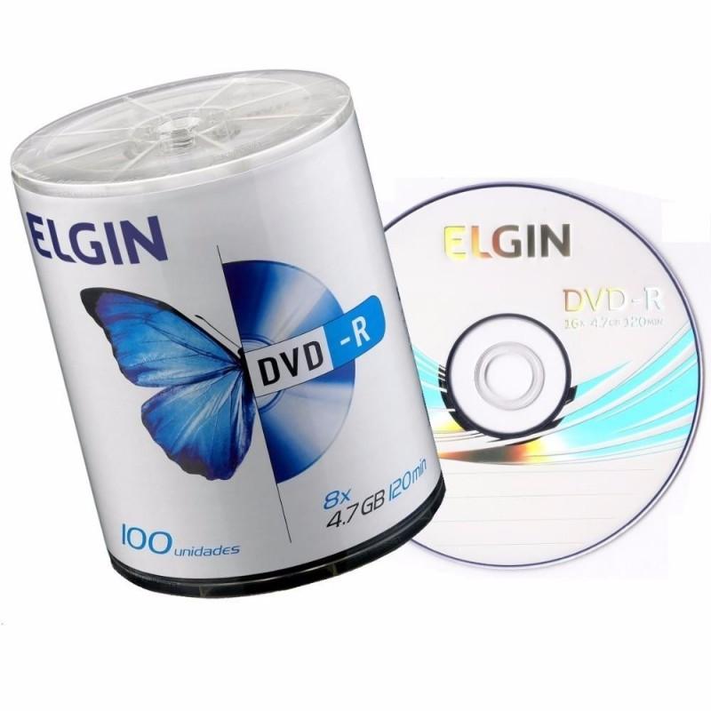 Mídia DVD-R 4.7GB 16X c/ 100UN Elgin