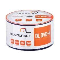 Mídia DVD-R 8.5GB 8X Dual Layer c/ 50UN DV047 Multilaser