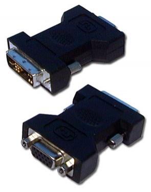DVI-A 12+5 Macho x HDB15 VGA Femea