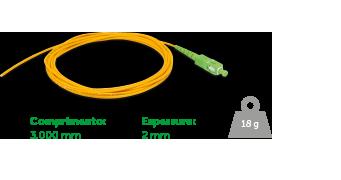 Extensão Óptica SC/APC SM - 2.0mm 3MT - XFE 2 Intelbras