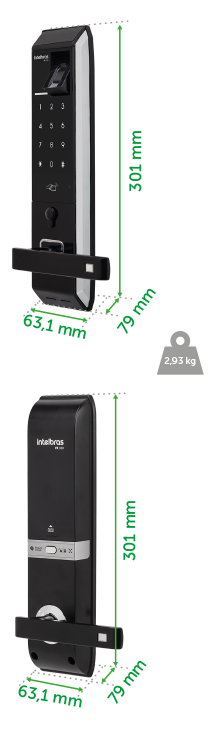Fechadura Digital Fr330 Intelbras  - Eletroinfocia