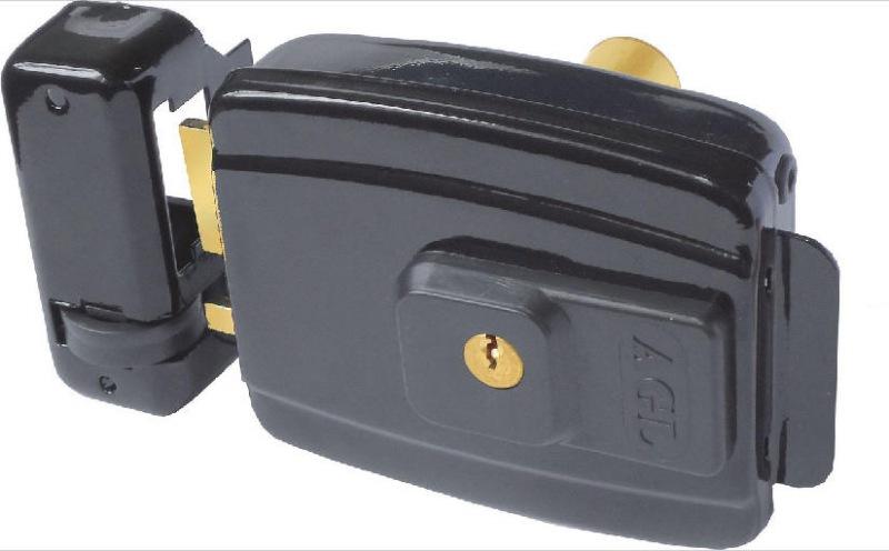 Fechadura Elétrica 12V Mini 42mm Preta AGL