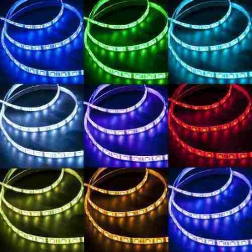 Fita de Led Silicone prova d Água Adesiva RGB 5050 p/ Metro