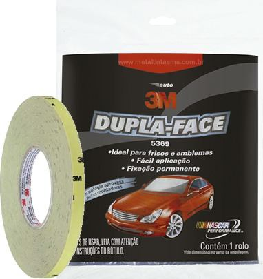 Fita Dupla Face Automotiva 5369T Transparente 12X3mts 3M