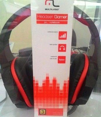 Fone De Ouvido Headset Gamer P/2 Cabo Nylon PH120 Multilaser