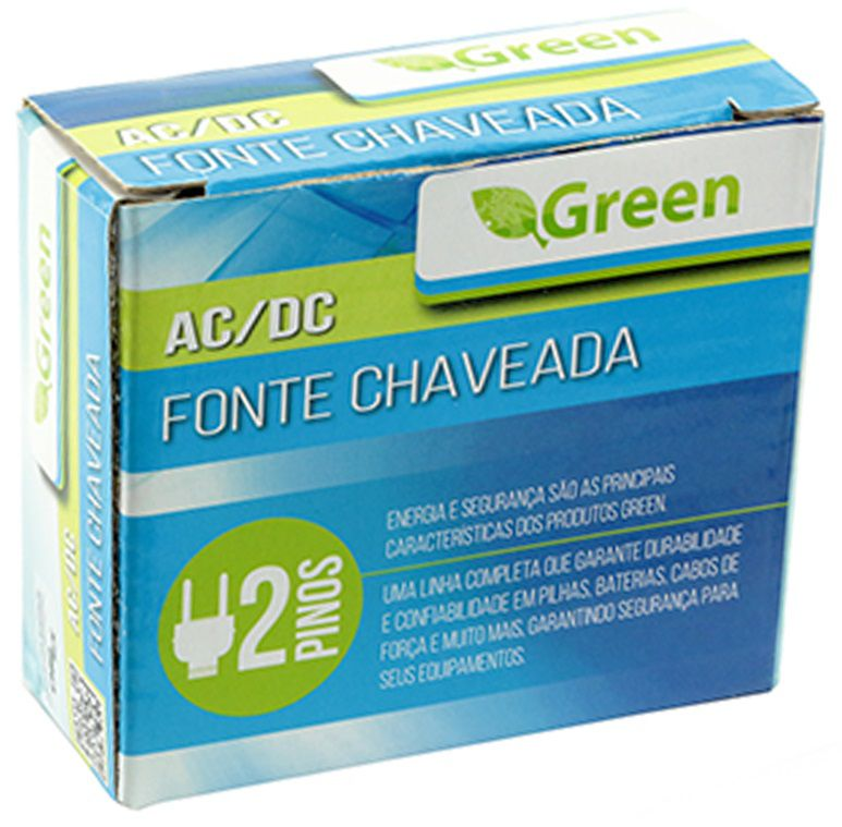 Fonte Chaveada 12V 1A - PLUG 5 5MM X 2 1MM   - Eletroinfocia