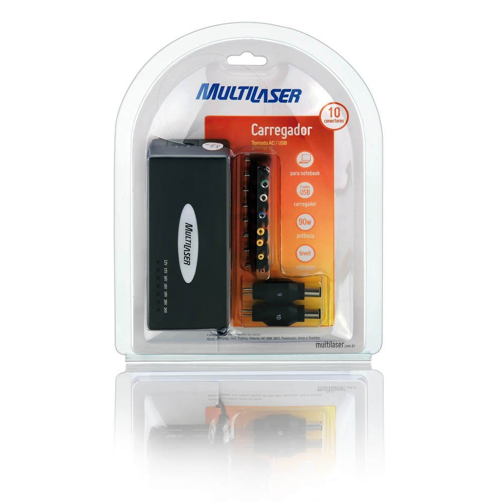 Fonte universal p/ notebook USB 90w CB007 Multilaser