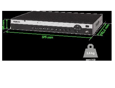 Gravador Dig, De Imagem Nvd 3116 Intelbras  - Eletroinfocia