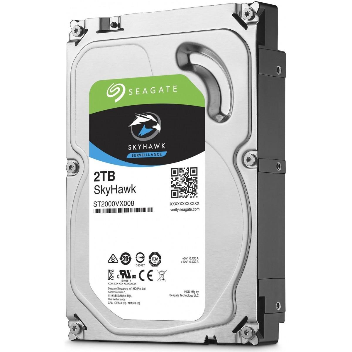 HDD 2TB 3,5 5900RPM 64MB CACHE 24X7 SATA 6GB/S Segurança Seagate  - Eletroinfocia