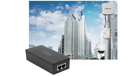 Injetor Poe 802.3 AF/AT Gigabit Ethernet Poe 200 AT Intelbras