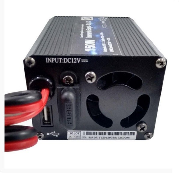 Inversor de Onda Modificada 12V p/ 127V / USB 150W Up Car - Eletroinfocia