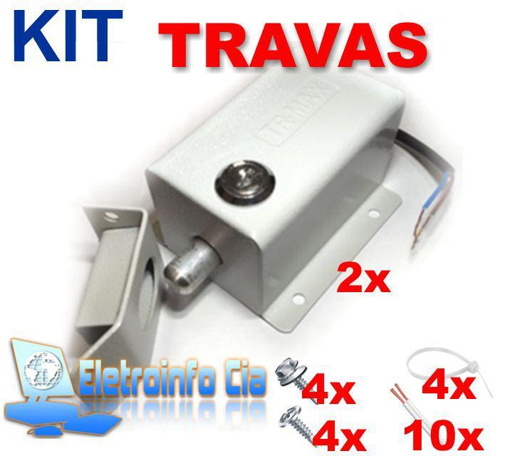 Kit 02 Travas Eletromagnética p/ Portões Eletrônicos c/ TR-Max