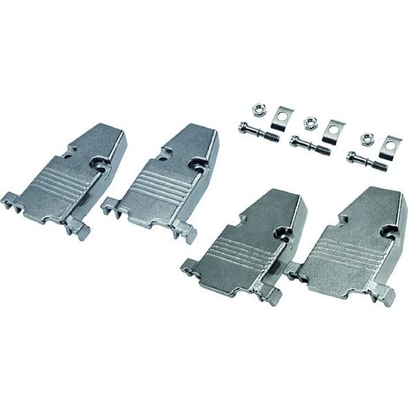 Kit Capa Metalica DB9 / DB15  (VGA) Curto