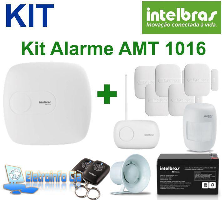 Kit Central Alarme ATM 1016 Net + Receptor XAR 4000 + 5 Sensores XAS 4010 + Sensor IVP 2000 Intelbras