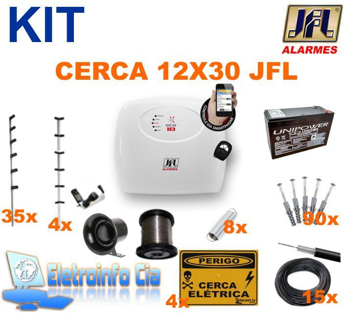 Kit Cerca Elétrica 12x30mts ECR 18 JFL