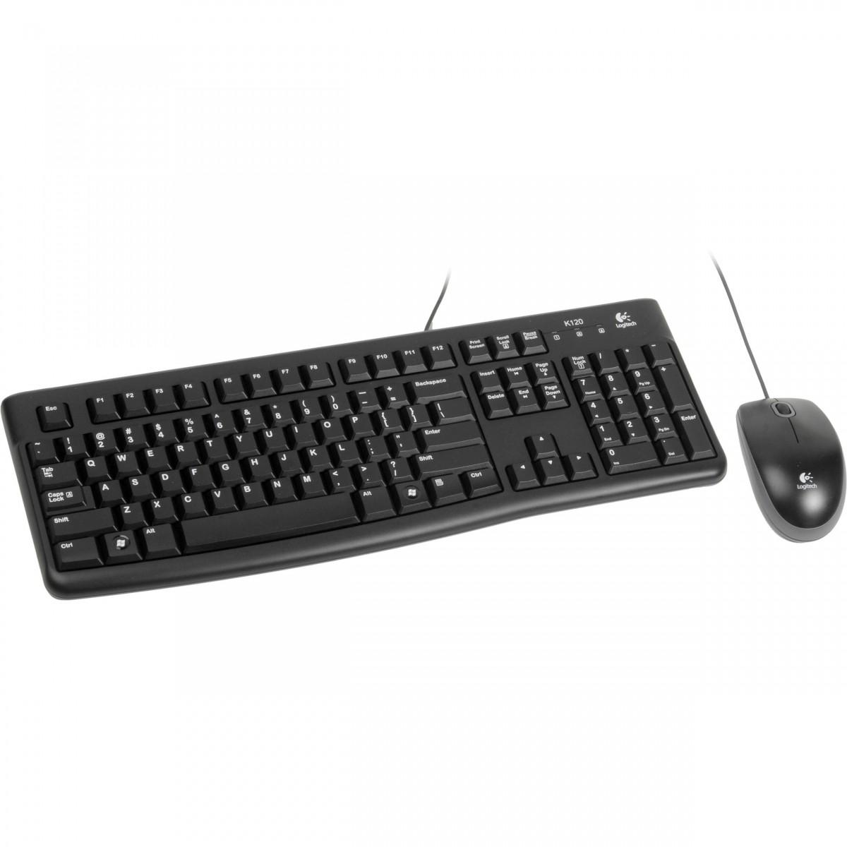 Kit Teclado + Mouse USB MK120 Preto Logitech