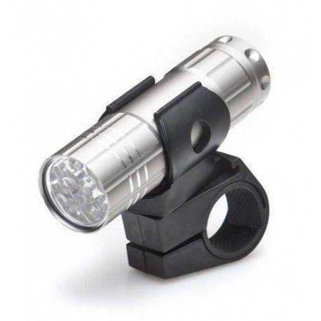 Lanterna de 9 LEDS p/ Bicicleta c/ 2 Funções Prata Metal BLT 014 Rontek