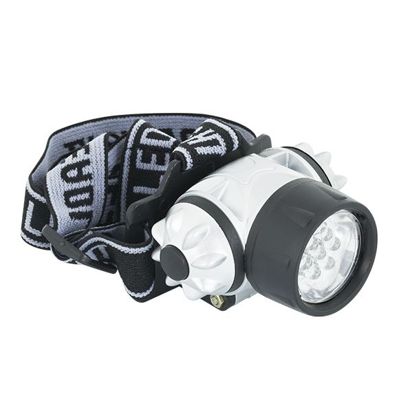 Lanterna de Cabeça 7 LED's 70x65x38MM Preta / Cinza