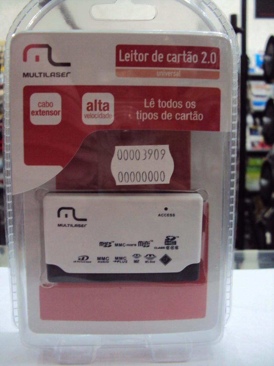 Leitor de Cartão 2.0 Universal AC076 Multilaser  - Eletroinfocia