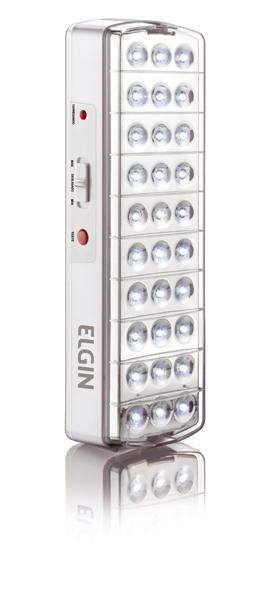 Luminária de Emergência 30 Leds Bateria Litio LEM30L Elgin  - Eletroinfocia