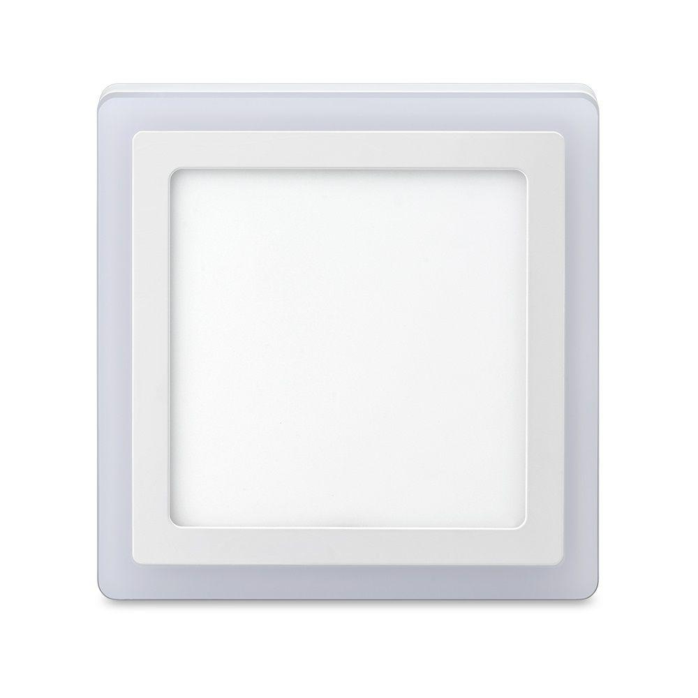 Luminária de Sobrepor 3 Estágios, Quadrado, 18+6W ,6500 + 3000K Elgin