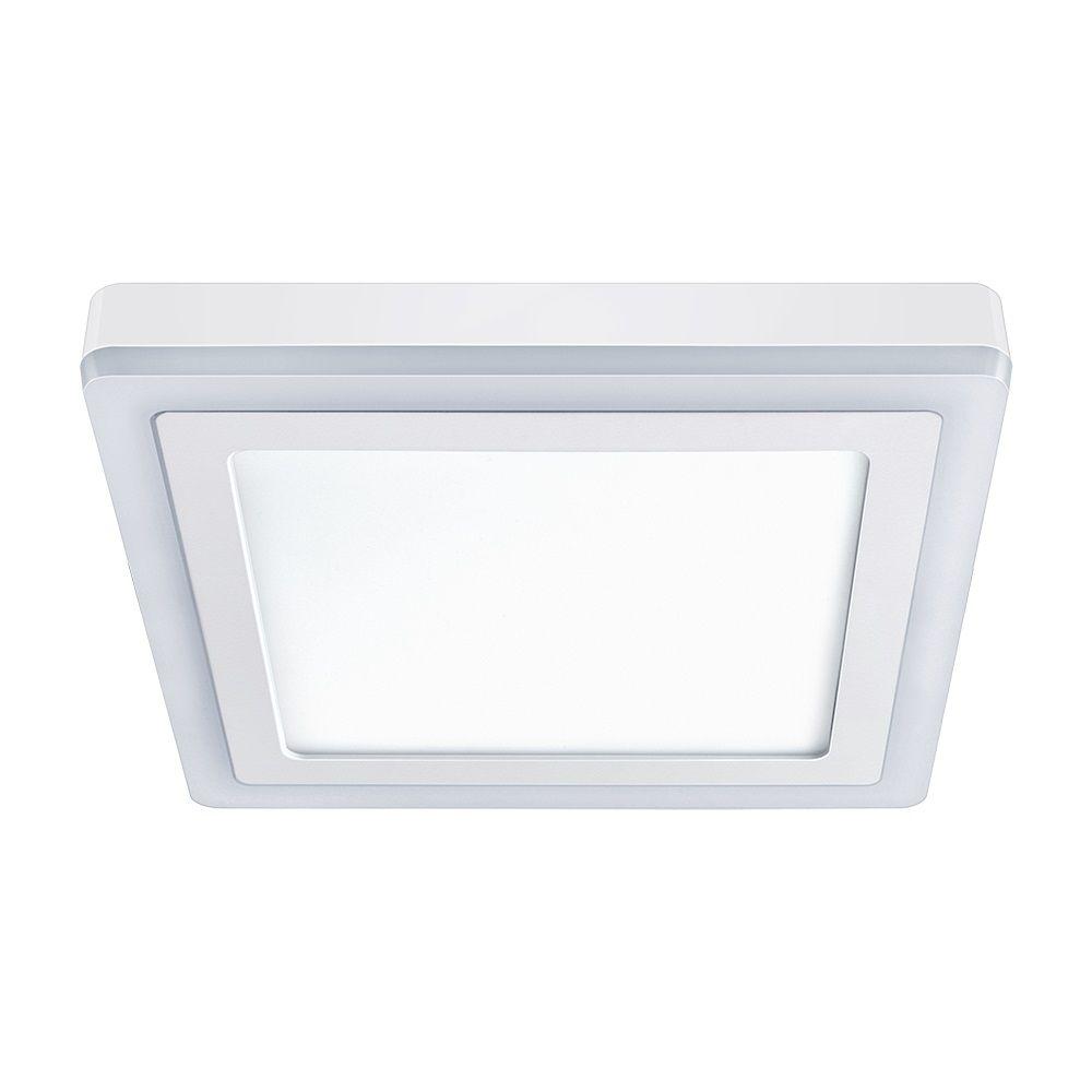 Luminária de Sobrepor 3 Estágios, Quadrado, 18+6W ,6500 + 3000K Elgin  - Eletroinfocia