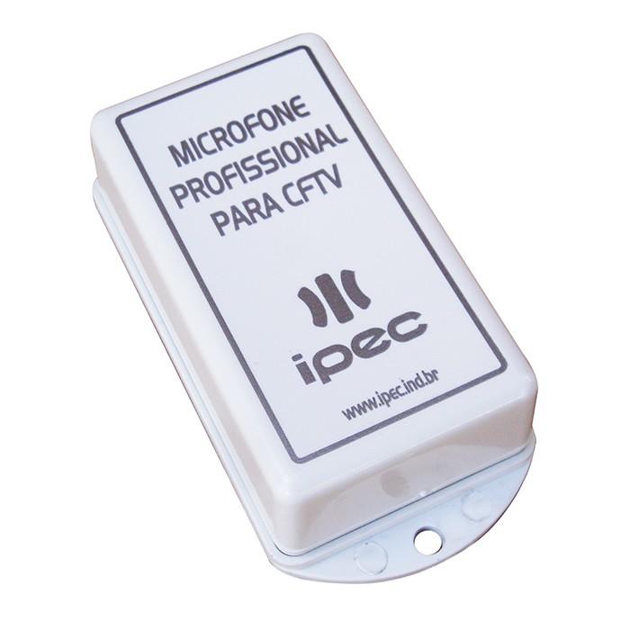 Microfone Profissional p/ CFTV IPEC  - Eletroinfocia
