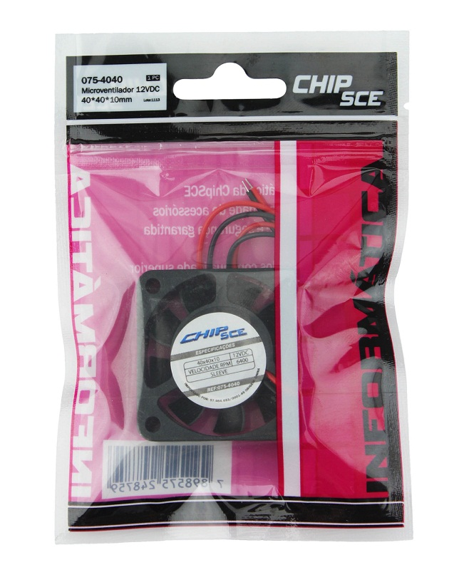 Microventilador 40x40x10mm 12V Chip SCE