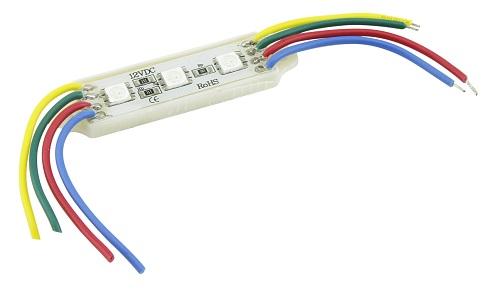 Modulo C/3 Leds RGB IP65 5050 45X12MM 12V