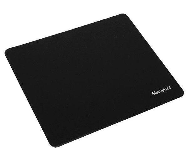 Mouse pad Emborrachado 18x22 Preto AC027 Multilaser