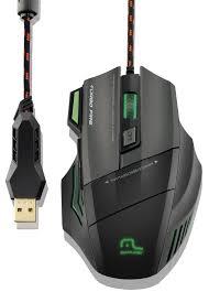 Mouse Profissional Metal War 7 botões 3200 DPI Preto USB MO207 MULTILASER