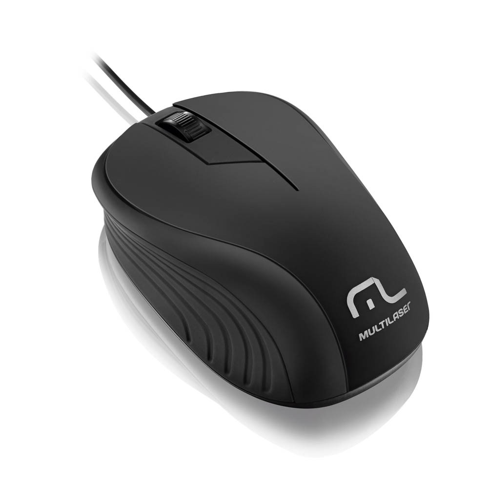 Mouse USB Emborrachado Wave Preto MO222 Multilaser