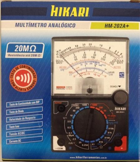 Multímetro Analógico HM-202A+ 21N077 Hikari  - Eletroinfocia