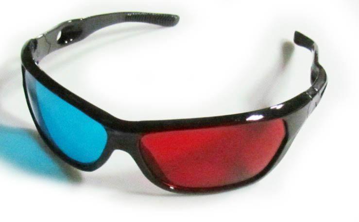 Óculos 3D Anaglíficos (Azul e Vermelho) Reutilizáveis