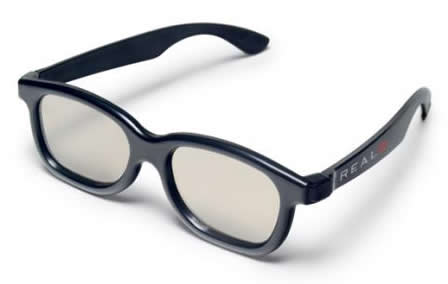 Óculos Plásticos 3D Polarizados Reutilizáveis