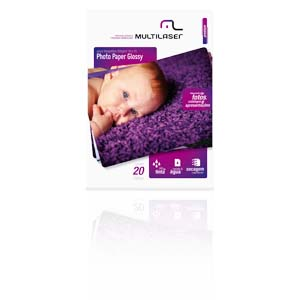 Papel Fotográfico 10x15 200gm 20 Folhas Photo Paper Glossy Multilaser