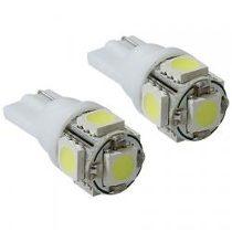 Par de Lampada Pingo T10 de 5 LEDS KX3