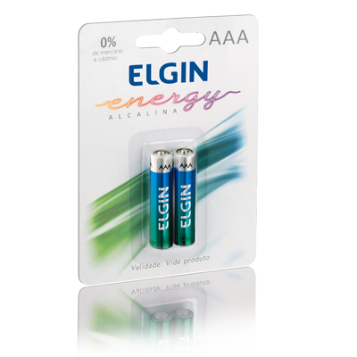 Pilha AAA Alcalina c/ 02 unidades Elgin