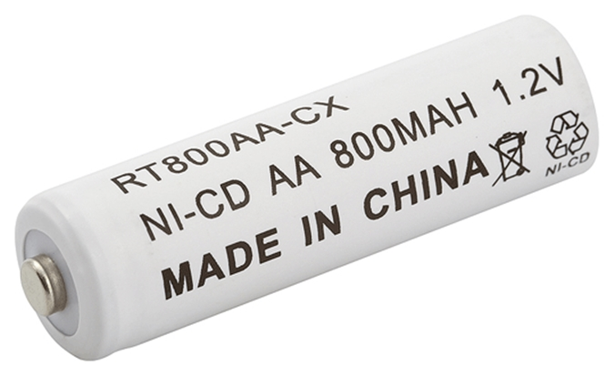 Pilha / Bateria Recarregável 1,2V 800mAh NICD AA c/ 2UN Rontek  - Eletroinfocia