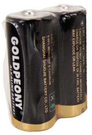 Pilha Alcalina 1,5v Tamanho N C/ 02 Unidades Goldpeony
