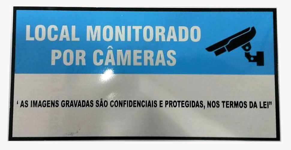Placa Advertência