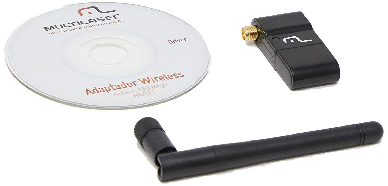 Placa de Rede USB Wireless HIGH Power 150MBPS C/ Antena RE034  - Eletroinfocia