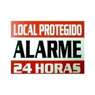 Placa em PS 175X120MM Local Protegido Alarme 24H