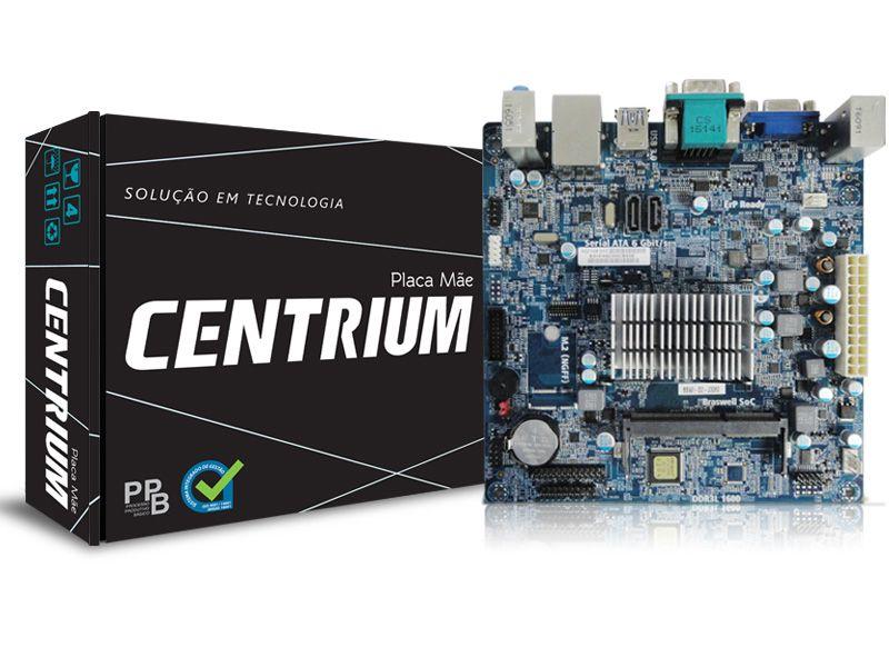 Placa Mãe c/ Processador Intel J3060 Dual Core 1.6GHZ HDMI, USB 3.0 Centrium
