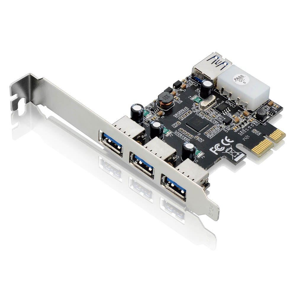 Placa USB PCI Express 4XUSB 3.0 GA130 Multilaser  - Eletroinfocia