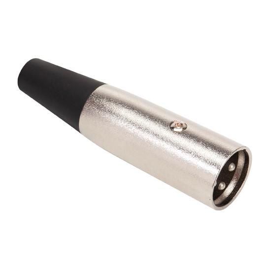 Plug Canon XLR Macho 3 pinos p/ Cabo