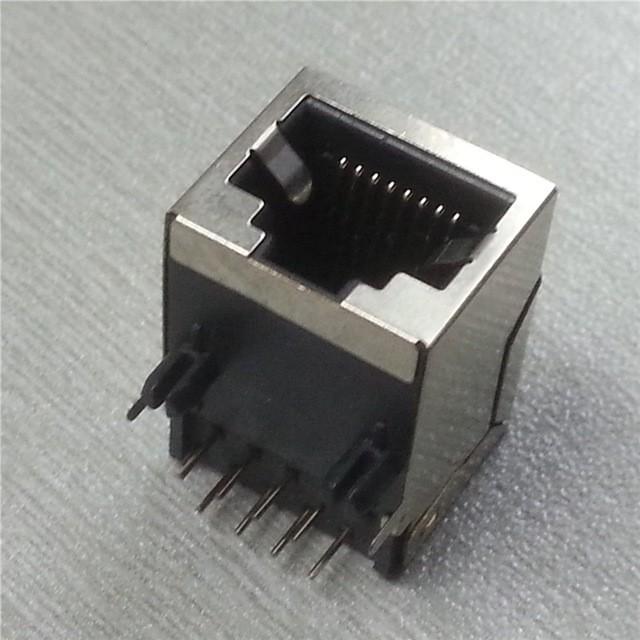 Plug Jack p/ Rede RJ45 Placa Circuito Impresso Blindado 90°  - Eletroinfocia