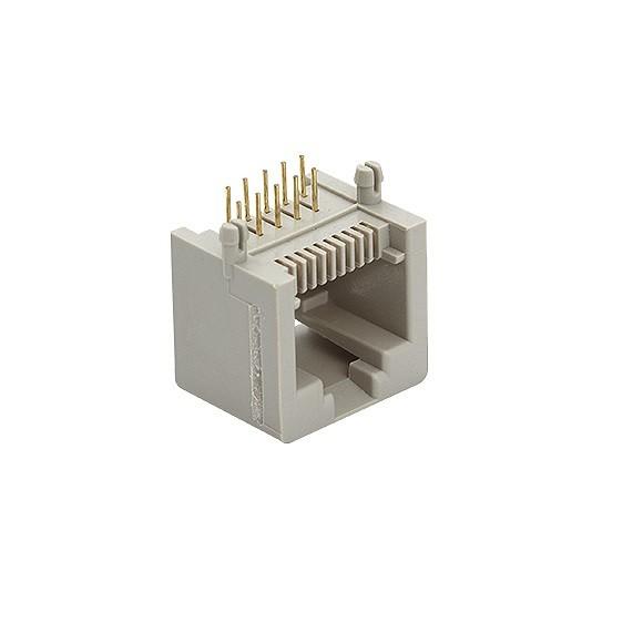 Plug Jack p/ Rede RJ45 Placa Circuito Interno 10P10C 90°